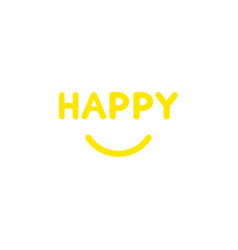 flat design style concept of happy text with vector image vector image