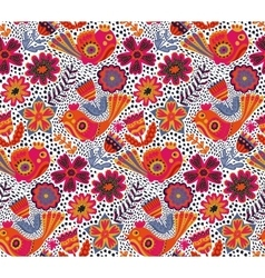 Flower pattern seamless botanic texture vector