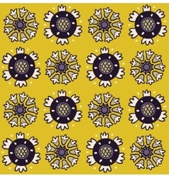 Folk art pattern with flowers vector image