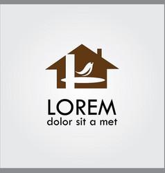 home bird logo vector image vector image