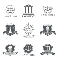 Law Firm set vector image