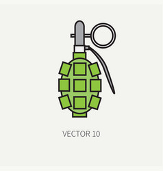 line flat color military icon - hand vector image