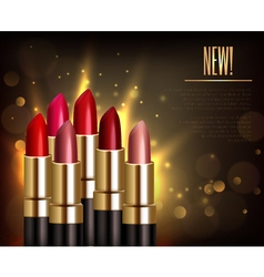 Lipstick Assortment Background vector image vector image