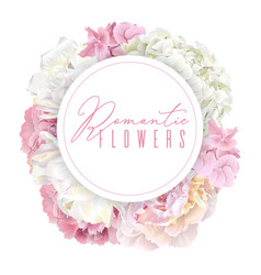 peony pink round banner vector image