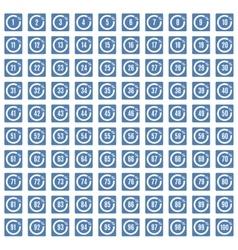 Percentage icons full blue set vector