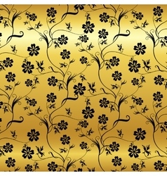 seamless shining background with vintage floral vector image vector image