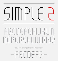 Simple font made of thin lines you can change the vector