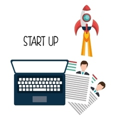 Start up company graphic vector