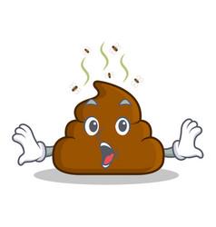 Surprised poop emoticon character cartoon vector