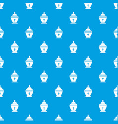 Urn pattern seamless blue vector