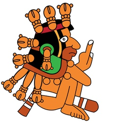 warrior in style of the maya vector image