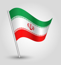 Waving simple triangle iranian flag iran vector