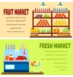 Fruit and fresh market vector