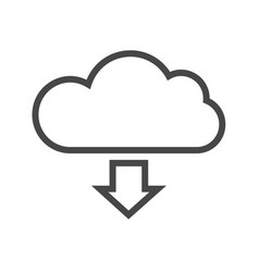Cloud storage thin line icon vector