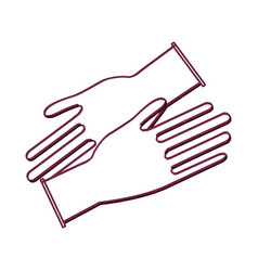 silhouette medical latex gloves to protection vector image