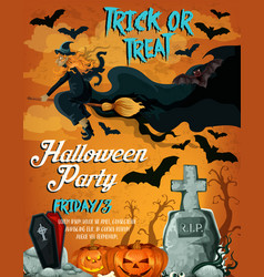 Halloween horror night party poster design vector