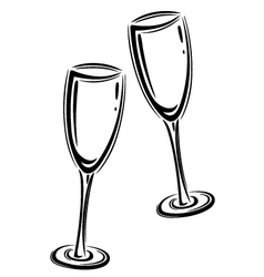 Ch agne Glasses Vector 1734950 on new years eve celebration join us