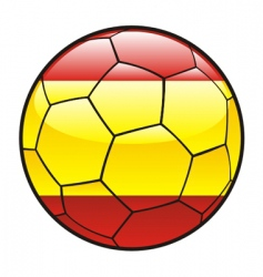 Flag of spain on soccer ball vector