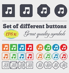 Music note icon sign big set of colorful diverse vector