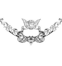 Cupid heraldry vector
