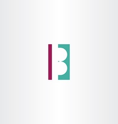 B letter logo b design element vector