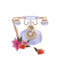 Antique style retro phone vector