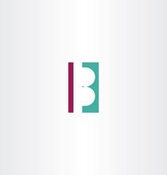 B letter logo b design element vector