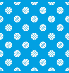 basketball ball pattern seamless blue vector image