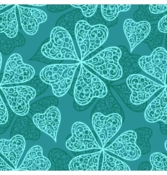 Blue flourish seamless pattern vector