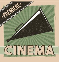 Cinema premiere poster vintage director speaker vector