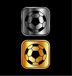 Footballs on black background vector