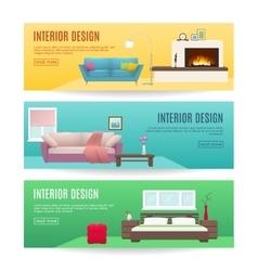Furniture Horizontal Banners Set vector image