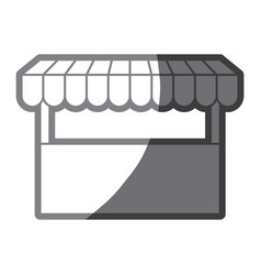 Grayscale silhouette of store icon vector