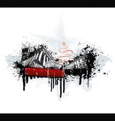 grunge urban Christmas vector image