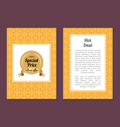 Hot deal special price best offer golden label vector