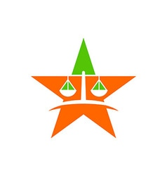 Law court bank house symbol justice finance star vector