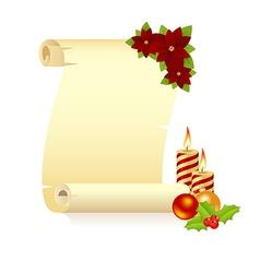 Manuscript christmas candle vector