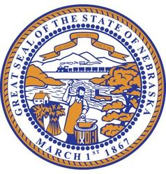 Nebraska seal vector