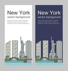 New york flat banner vector