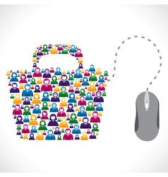 Online shopping bag vector