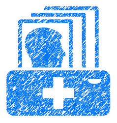 Patient catalog grunge icon vector