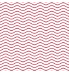Red seamless wavy line pattern vector