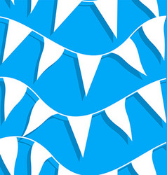 White flags on rope in a seamless pattern vector