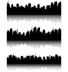 Set of business city skyline vector