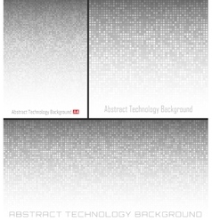 Set of abstract gray technology circle background vector