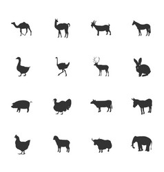 Farm animals icon set vector