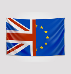 hanging flag of the united kingdom and the vector image