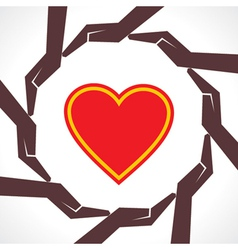 Protect human heart concept vector image