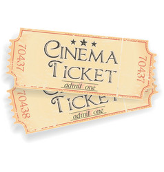 vintage sinema ticket vector image