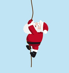 Santa on the rope vector